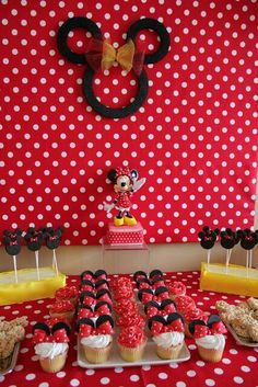 Red Minnie party!