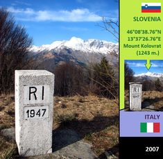 Confini amministrativi - Riigipiirid - Political borders - 国境 - 边界: 2007 IT-SI Itaalia-Sloveenia Italia-Slovenia