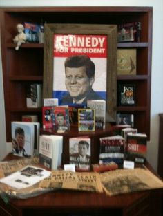 High School Library Display of Kennedy's 50th Anniversary of his assassination.