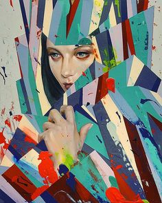 http://www.fubiz.net/2014/11/28/graphic-and-colorful-portraits-by-erik-jones/