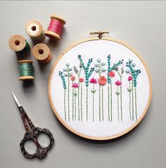 Modern floral embroidery