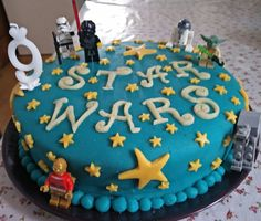 Star Wars Cake. For decoration simple use Lego minifigures.