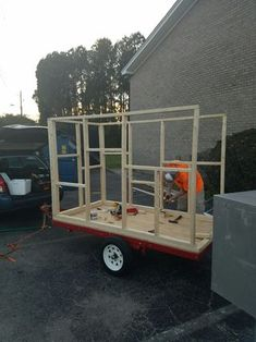 DIY Micro-Tiny House Camper on Harbor Freight Trailer: 17 Steps (with Pictures)Picture of Attaching Sides to BaseCheap Camping In Florida Key: 6646153706 Tiny Trailers, Tiny House Trailer, Camper Trailers, Travel Trailers, Airstream Campers, Gypsy Trailer, Enclosed Trailers, Camping Trailer Diy, Camping Diy
