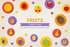 Check out Round fruits icons by miumiu on Creative Market