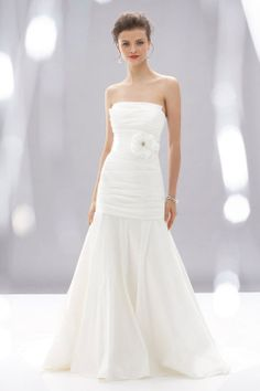 A-line floor-length taffeta bridal gown with zipper back - could so see you in this!