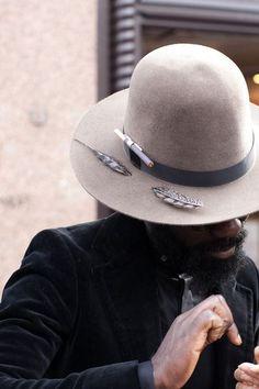 man coat hat tumblr style beard