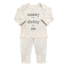 oh baby! Mommy + Daddy = Me Two Piece Set