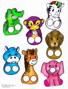 Vingerpopjes dieren voor kleuters / zoo fingerpuppets