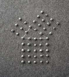 "vjeranski: "" MEL BOCHNER Meditation on the Theorem of Pythagoras, 1972 Hazelnuts and chalk on floor 17 x 16 in. x cm) "" Joseph Kosuth, Sculpture Art, Sculptures, Sensory Art, White Prints, Conceptual Art, Milky Way, Sacred Geometry, Geometric Shapes"
