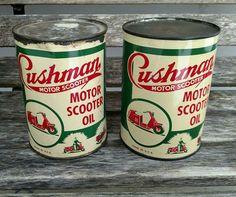 Cushman Motor Oil Cans