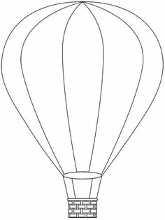 Hot air balloon pattern. Use the printable outline for crafts