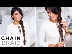 Chain Braid | DKNY Inspired Hairstyle - YouTube