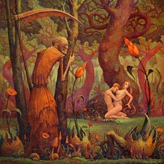 Sex, Satan and surrealism: The unsettling erotica of Michael Hutter Dark Fantasy, Fantasy Art, Art Noir, Grim Reaper, Klimt, Surreal Art, Erotic Art, Dark Art, Lovers Art