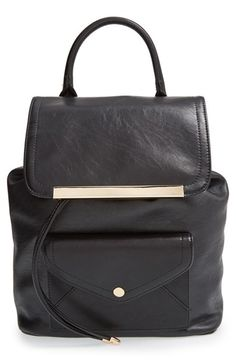 Cesca 'Leo' Faux Leather Backpack available at #Nordstrom