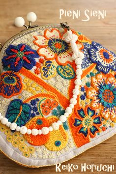 ~Flower dream~ embroidery purse by PieniSieni