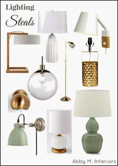 10 Lights Under $100 with links to each source | Abby M. Interiors