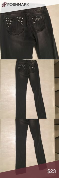 Guess Jeans - Like new Worn maybe once - guess jeans in excellent condition. Straight leg design. Two pairs for sale! Ripped style with embellishments. Guess Jeans Straight Leg