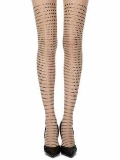 Black Knee High Pop socks opaque fashion foot feet School Girl Pattered Ida