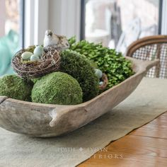 Antique European Dough Bowl Trencher Carved Wood by edithandevelyn. Love these trenchers for displays!
