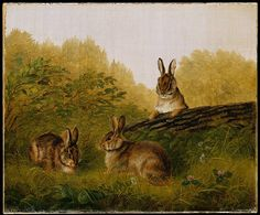 Arthur Fitzwilliam Tait (American, 1819–1905). Rabbits on a Log, 1897. The Metropolitan Museum of Art, New York. Gift of Mrs. J. Augustus Barnard, 1979 (1979.490.7)