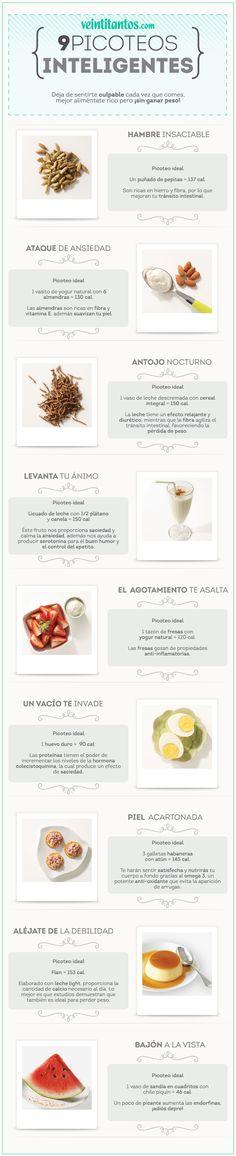 9 picoteos ANTI KILOS. Aliméntate rico pero ¡sin ganar peso! #TipFit