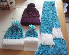 Pattern2 Needle Knitted Basket Weave Hat by BeckysCrochetShop32