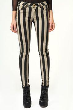 Lolita Thick Striped Skinny Jeans