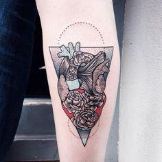 Heart Flower Tattoo