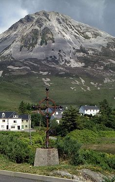 Errigal is a 751-metre mountain near Gweedore in County Donegal, Ireland The tallest peak in County Donegal.