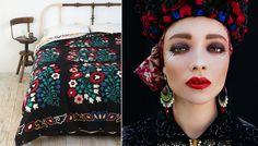 Left: Pinterest / Right: photographs: Ula Kóska & makeup artist: Beata Bojda via Goodmoods