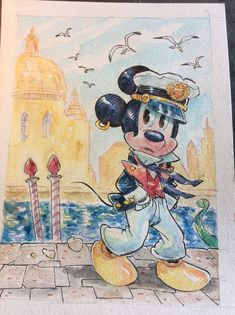 "Mickey Mouse - ""Ancora Venezia, Topo Maltese"" - Pagina - Catawiki Illustrations And Posters, Maltese, Disney Art, Mickey Mouse, Painting, Illustrations Posters, Painting Art, Paintings, Painted Canvas"