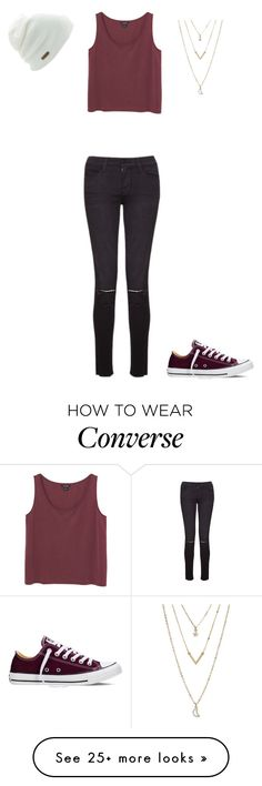 """""""Feel'n Confident"""" by phoenix1053 on Polyvore featuring Monki, Frame Denim, Coal, Aéropostale, Converse, women's clothing, women, female, woman and misses"""