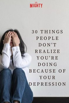 We asked people in The Mighty's mental health community to share one thing people don't realize they're doing because of their depression. Living With Depression, Signs Of Depression, Depression Help, Kids Mental Health, Mental Health Matters, Psychological Symptoms, Mental Illness Awareness, Feeling Numb