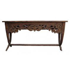 Flora Console Table, Indonesian Teak $699