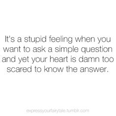i know that feeling