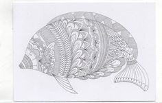 Millie Marotta's Colouring in Card - Fish