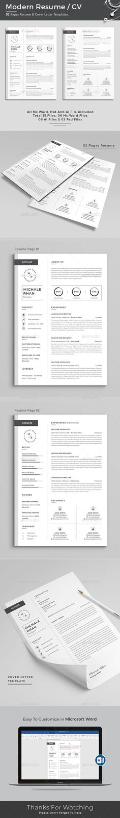 Job Resume CV Word Template Pinterest Job resume, Resume cv and