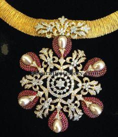 Latest Fancy Ruby Pendants   Jewellery Designs