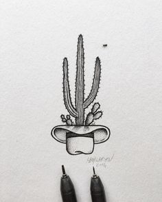 steelbison cactus art for a tattoo