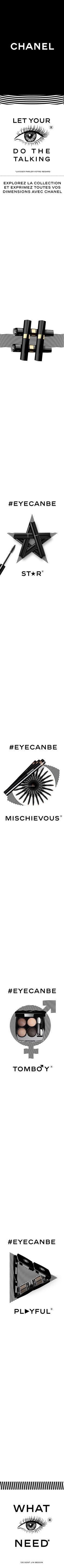 #EyeCanBe Explorez la collection et exprimez toutes vos dimensions avec CHANEL