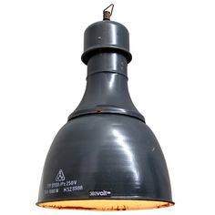 Apagy Large Blue (11 in stock)  Classic Industrial Pendants | From a unique collection of antique and modern chandeliers and pendants at https://www.1stdibs.com/furniture/lighting/chandeliers-pendant-lights/