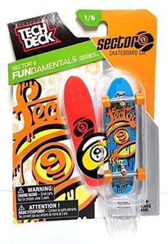 Tech Deck Sector 9 Fundamentals Series Skateboard Co. w Display Stand 1/6
