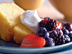 Because of the addition of cornmeal to the batter, the texture of this pound cake resembles a sweet and tender cornbread instead of the...
