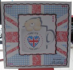 BIRTHDAY CARD USING DOCRAFTS BEST OF BRITISH DVD ROM Best Of British, Friends Forever, Birthday Cards, Frame, Inspiration, Decor, Bday Cards, Picture Frame, Biblical Inspiration