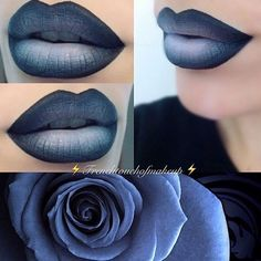 SHADOW LIPS: 42 BIG LIP STYLES TRYING NOW The shaded lips became trendy not so long ago and not all ladies ever tried this make-up. We believe it is time to familiarize yourself with such a lo. Make up Goth Makeup, Makeup Art, Lip Makeup, Beauty Makeup, Makeup Ideas, Rave Makeup, Clown Makeup, Scary Makeup, Skull Makeup