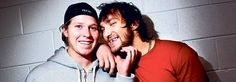 Grinning with a friend - Laughter transcending borders - Hockey unites all (Russian Alex Ovechkin & Swede Nicklas Bäckström enjoy a lighthearted moment)
