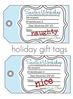 Cute Santa Tags