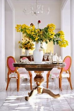 Today I'm loving, pink chairs   Daily Dream Decor