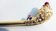 BINYEO BIG GOLD HANBOK Hair pin Stick band dress party Korean girl Chinese