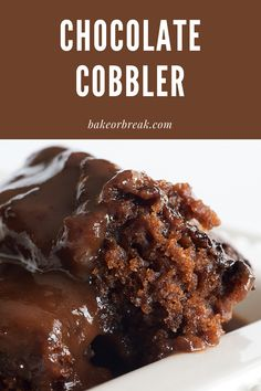 Chocolate Cobbler is a simple recipe to make with big results As it bakes it forms a cake-like topping and a gooey chocolate sauce on the bottom Absolutely delicious - Bake or Break chocolate Dessert Simple, Baking Recipes, Cake Recipes, Dessert Recipes, Simple Sweets Recipes, Dessert Food, Fish Recipes, Lunch Recipes, Pasta Recipes
